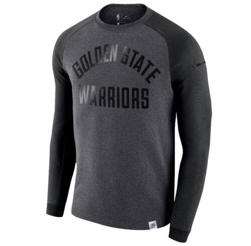 Equipaggio Nba Nero Moderno Nike State Pile Warriors Grigio Golden Felpa M 71S1qX