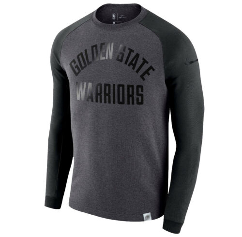 State Nike M Nba Warriors Moderno Nero Grigio Pile Equipaggio Golden Felpa gwfwFq5