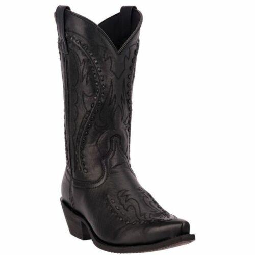 Homme Noir LAREDO Buck dentelle Cowboy Western Boots 68430 NEW IN BOX