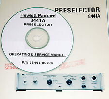Hp Hewlett Packard 8441a Preselector Operating Amp Service Manual With Schematics