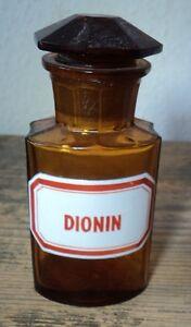 Flaschen & Gefäße 2019 Mode Altes Apothekerglas Flasche Apotheke Emailliert #40 Dionin
