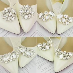 Details about Bride Shiny Decorative Clips Charm Buckle Wedding Shoe  Decorations Shoe Clip