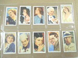 1935 Gallaher PORTRAITS FAMOUS STARS actors set 48 cards Tobacco Cigarette card