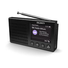 Portable Rechargeable DAB+ and FM Radio with Bluetooth Lightweight Alarm Clock