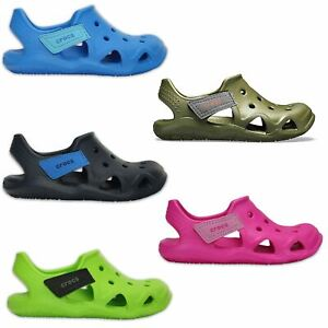 Cena obniżona przybywa cienie Details about Crocs Kids Swiftwater Wave Relaxed Fit Clogs Sandals in All  Sizes 204021