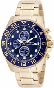 Invicta-Men-039-s-Watch-Specialty-Chronograph-Blue-and-Gold-Tone-Dial-Bracelet-15942