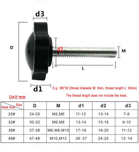 Sterngriff Schraube M8//6 Sechs Ecken Sternschraube DIN6336 star knobs Kunststoff