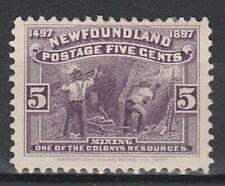 1897 NEWFOUNDLAND 5c MINING DEFINITIVE SG 70 M/MINT