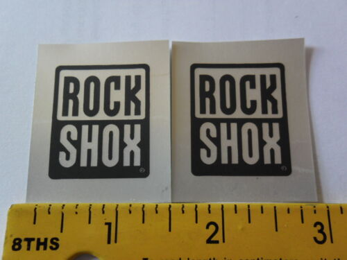 Rock Shox weather proof vinyl decal bike sticker 2pcs many colors