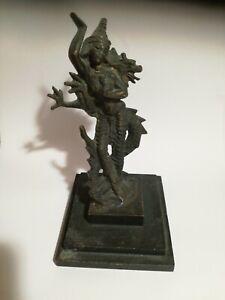 Arte orientale Antica statuetta in bronzo Buddha cm 14 per 8 per 8