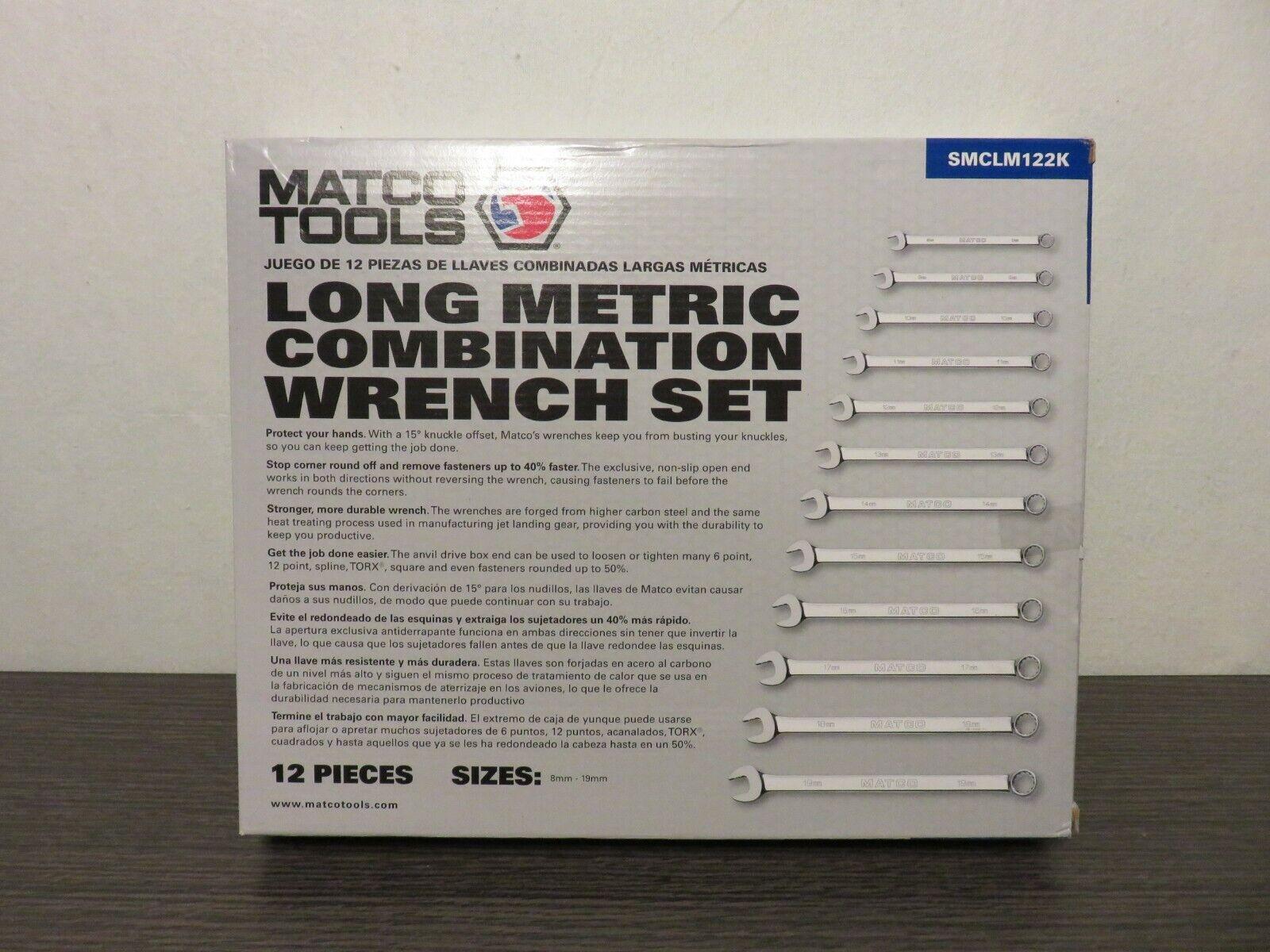 Britool Hallmark 12 Piece Combination Wrench Set Metric 8-19mm CELMSET12