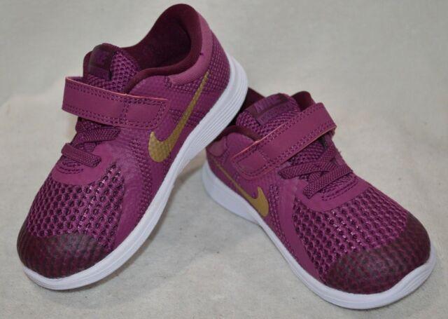 edc2e741011da Nike Revolution 4 (TDV) Tea Berry Gold Girl s Toddler Running Shoes-5
