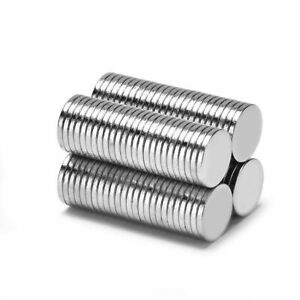 Neodym Magnets 8 X 1 MM Super High Holding Strength Disc N35 - 5 Piece