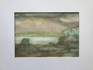 Edith-reichert-1924-2013-ancho-acuarela-paisaje-abstracto-verde-intemporal-24-x-18