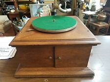 Oak Victor VV VI Victrola phonograph table top CLEAN WORKING
