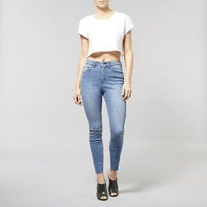 Lee-Women-039-s-Lola-Hi-Rise-Super-Skinny-Stretch-Denim-Jean-Desert-Blue-RRP-169-95