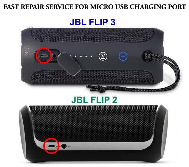 JBL Flip 2 Bluetooth Speaker Fast Repair Service for Micro USB Charging Port
