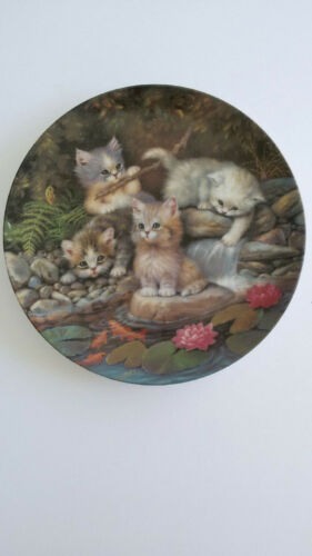 """By the Lily Pond"" Collector Plate Number One Kitten Expeditions Series"