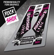 2 ROCKSHOX PIKE WHITE Decals stickers Bike Fork 454 426