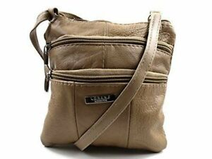 Womens-Small-Beige-Real-Leather-Crossbody-Bag-Shoulder-Handbag-Soft-Lorenz-3766
