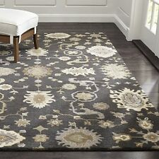 Crate & Barrel 5 x 8 Juno Gray Wool Rug Handmade Persian Style Rug & Carpets