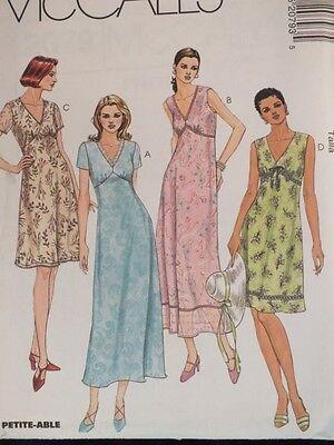 OOP McCALLS 2079 MS V-Neck Trim Variation Dress PATTERN 4-6-8-10-12-14-16-18 UC