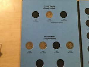 1858-1909-Indian-head-Cent-Penny-set-in-folder-29-Coins