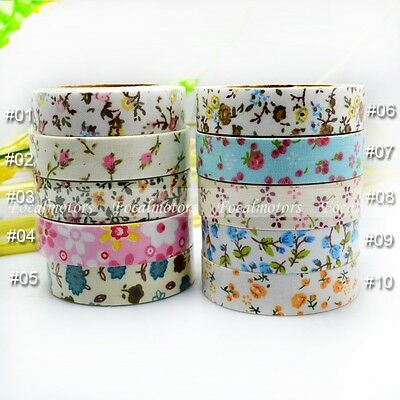 Flower Fabric Washi Tape Decorative DIY Craft Tape Stickers 15mm 1PC Handmade