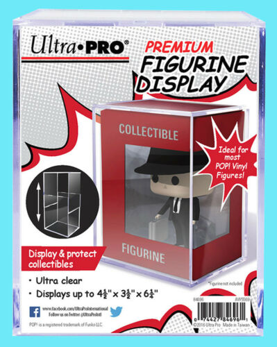 ULTRA PRO PREMIUM FIGURINE DISPLAY CASE Clear Hard Plastic Funko Pop Storage Box