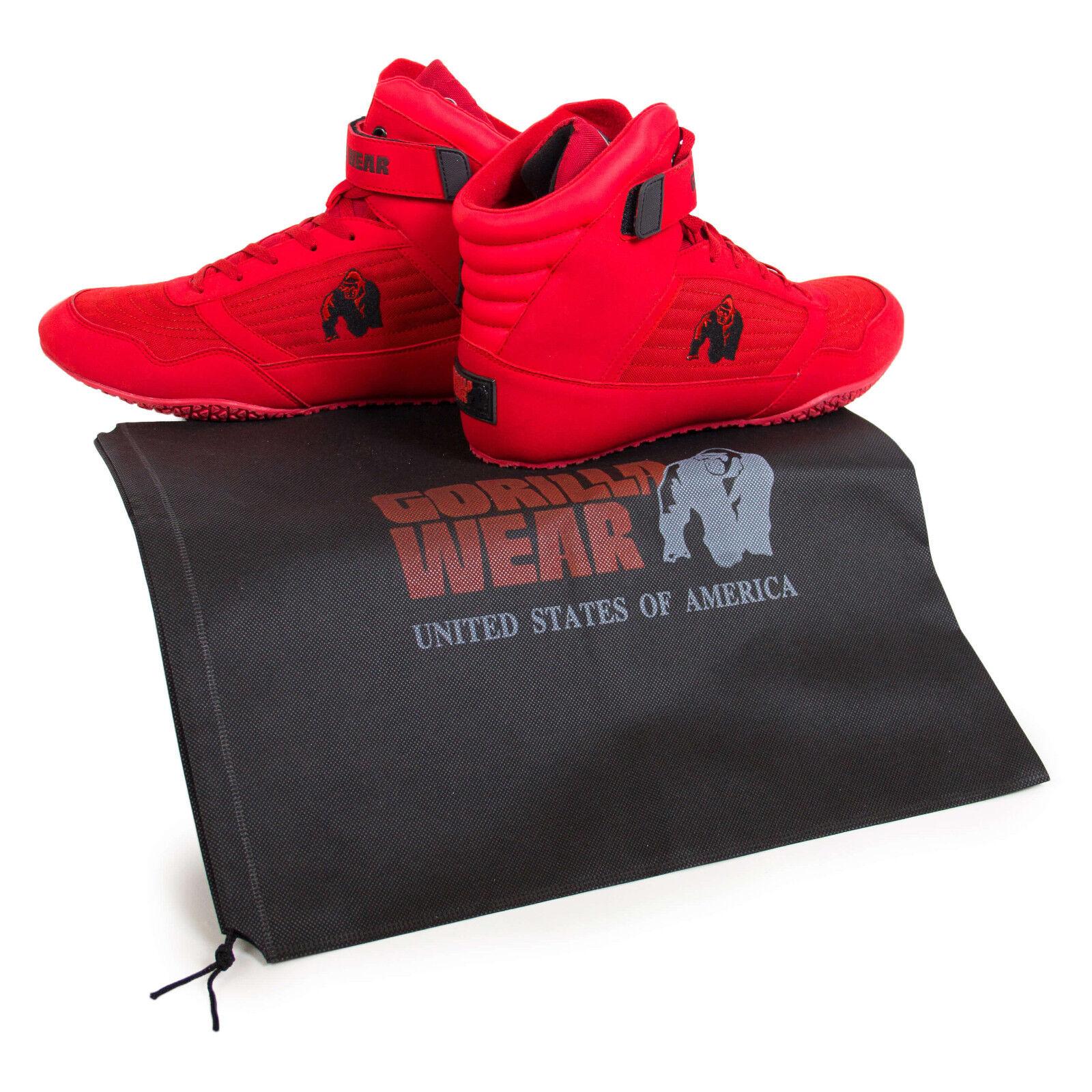 Gorilla Wear HIGH TOPS Fitness Bodybuilding MMA Schuhe Sport Schuhe MMA Turnschuhe ROT / Rot dd10b3