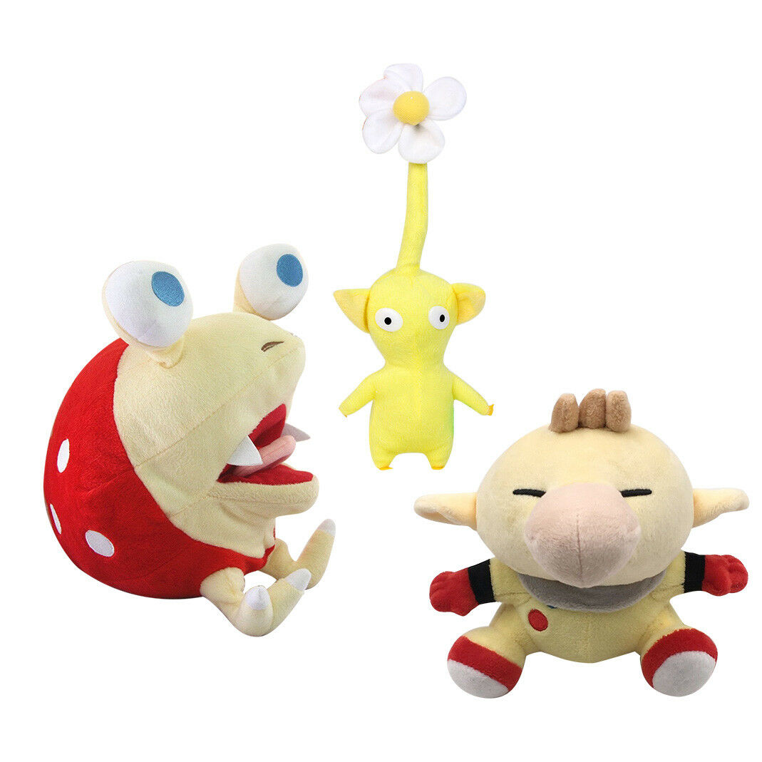 Bulborb Chappy Chappy Chappy Pikmin Captain Olimar Yellow Flower Soft Plush Doll Stuffed Toy f2f1cd