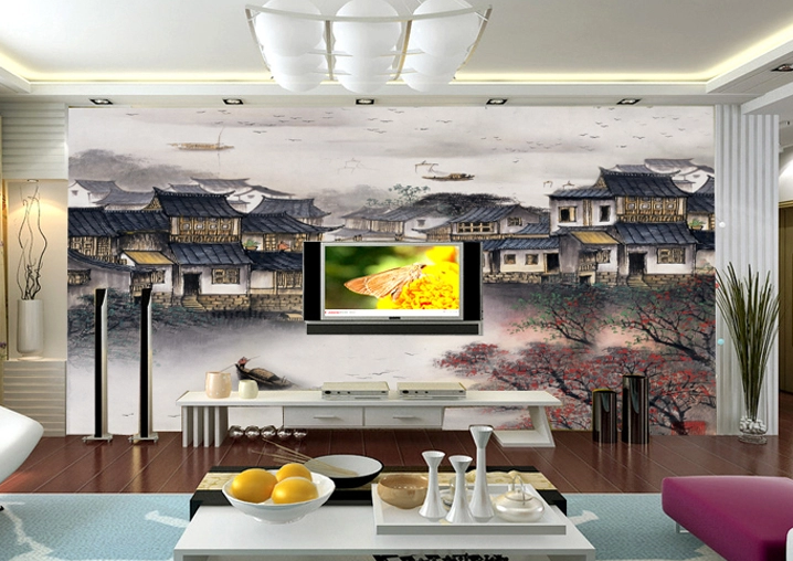 3D Ink Painting Hut 73 Wall Paper Murals Wall Print Wall Wallpaper Mural AU Kyra