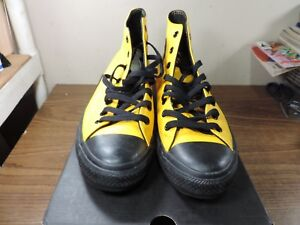 Details about CONVERSE ALL STAR BASKETBALL SZ 11 Shoes Sneakers Leather Yellow CT HI V2