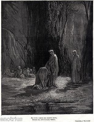 PURGATORIO:NEGLIGENTI.VIRGILIO E SORDELLO.Gutave Doré.Dante.Divina Commedia.1880