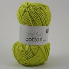 Rico Creativa Cotone Aran-Cotone Lavoro a Maglia & Crochet yarn-Light PISTACCHIO 44