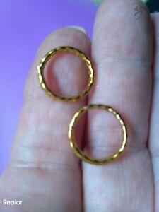 1-x-Adjustable-Nipple-Ring-Hoop-Unisex-Body-Non-Piercing-nipple-jewellery-gold