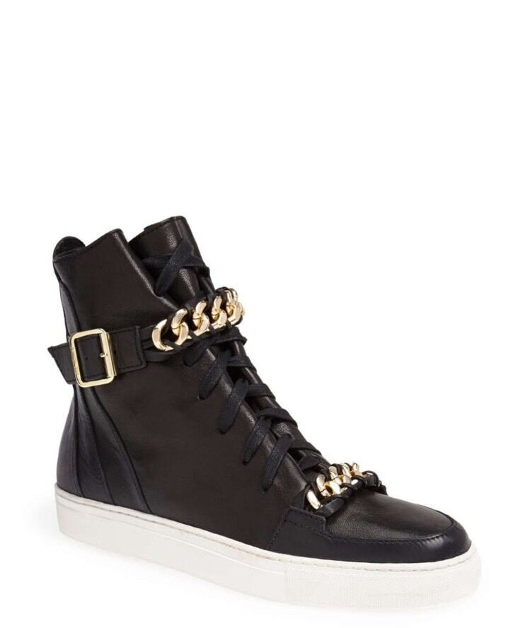NIB Rachel Zoe Blaine Leather High Top Sneaker 8