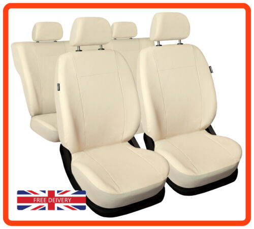 Leatherette car seat covers full set fit BMW 3 SERIES Eco-leather beige