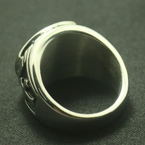 Silver Or Golden Archangel Ring Saint Michael Protect US Cross Shield Orthodox