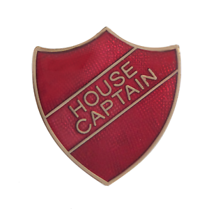 House Captain Red Pin Badge For Schools