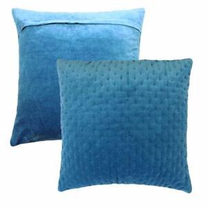 Matelasse-Rembourre-Jean-Bleu-Pour-Assorti-Couverture-100-Velours-Coton-Coussin