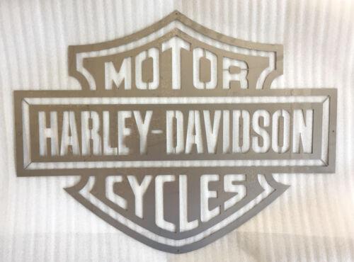 """/"""" Harley Davidson /"""" Schild Stahl unbearbeitet"""