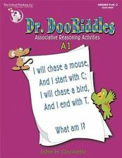 Dr. Dooriddles Associative Reasoning Activities: Book A-1 by John Doolittle