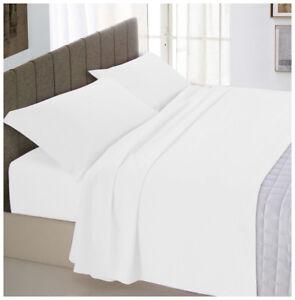Completo-letto-matrimoniale-bianco-cotone-set-lenzuola-2-federe-sotto-sopra
