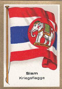 DRAPEAU-SIAM-Thailande-Rattanakosin-Thailand-Roi-War-Guerre-Krieg-FLAG-CARD-30s