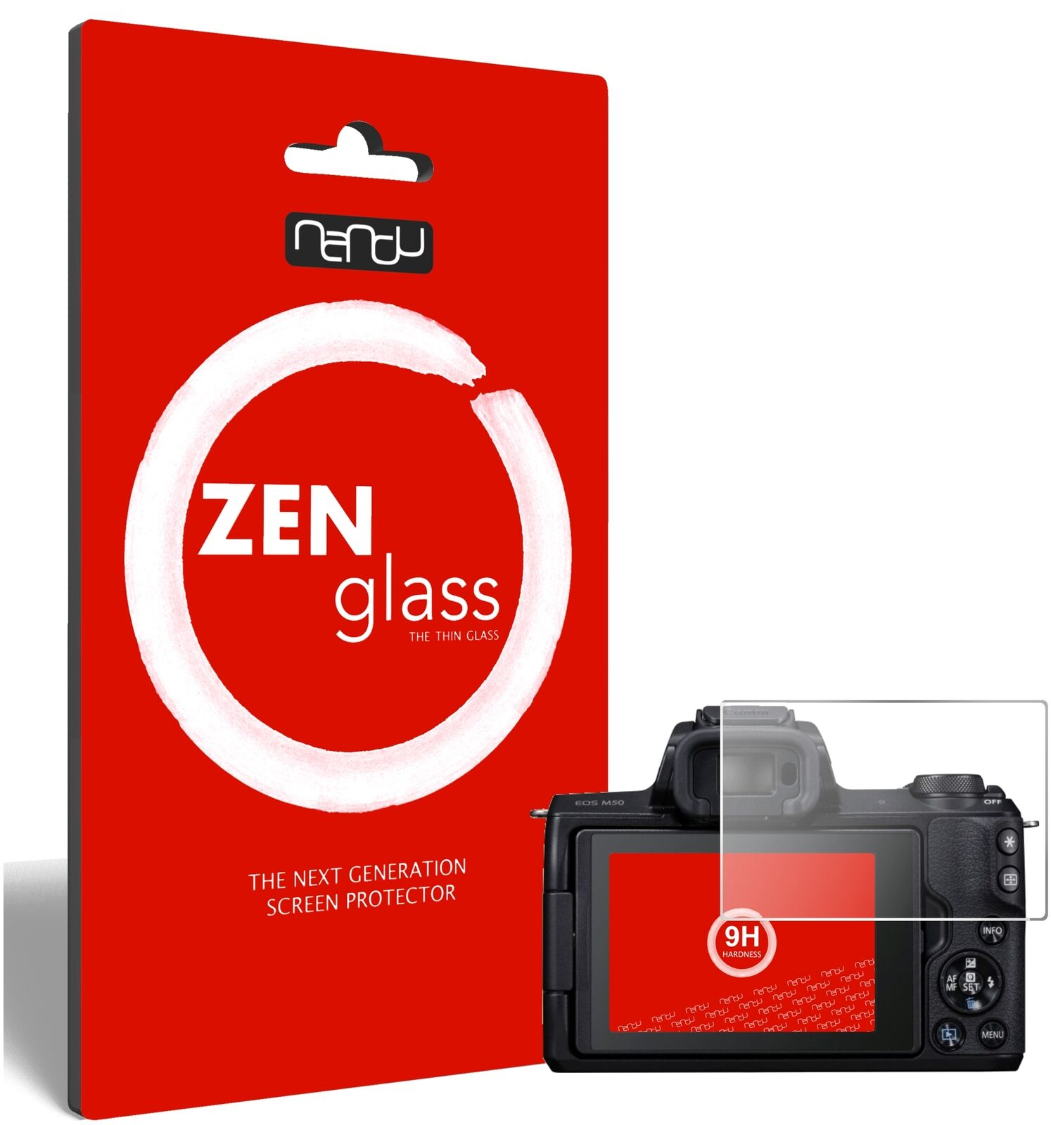 ZenGlass Flexible Glass Film for Canon EOS M50 I Screen Protector 9H Hardness