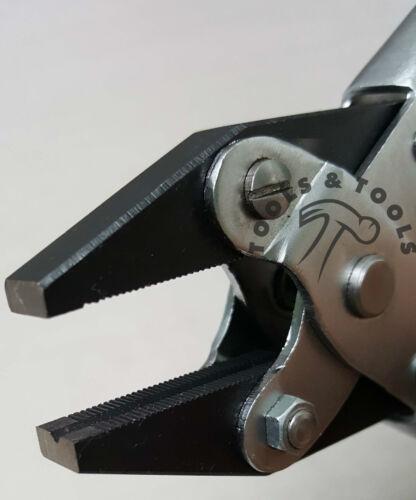 Juego de acción paralela de servicio pesado 160 mm Flat Nose Pliers suave y dentado mandíbulas