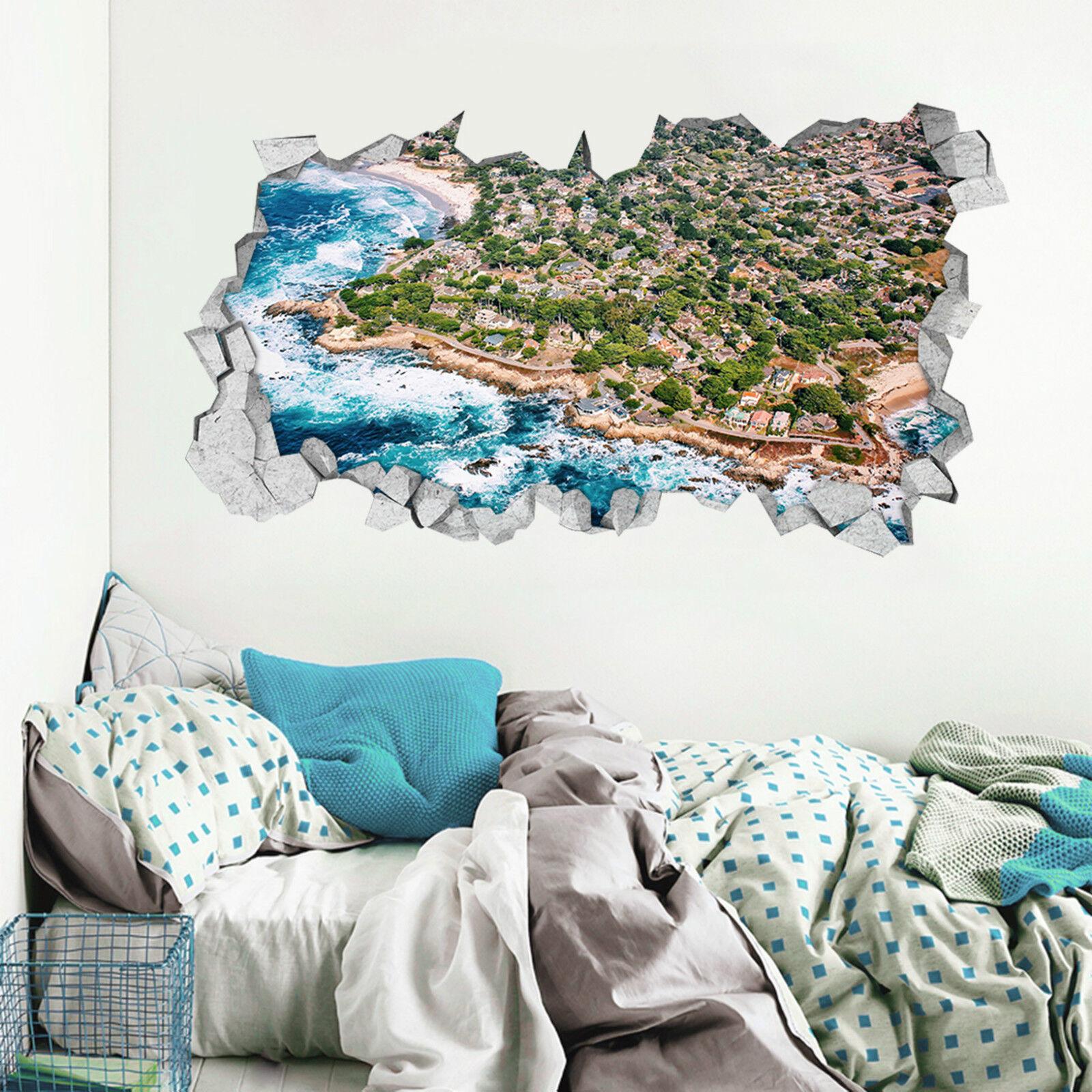 3D Am Meer 64 Mauer Murals Aufklebe Decal Durchbruch AJ WALLPAPER DE Lemon