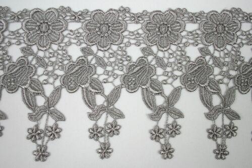 "Unotrim 4.5/"" White Ivory Blue 12 Colors Floral Venice Lace Trim Guipure By Yard"