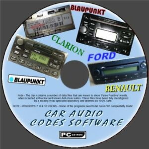 Details about CAR AUDIO/RADIO/STEREO LOST CODE DECODE UNLOCK SOFTWARE PCCD  FORD RENAULT BECKER